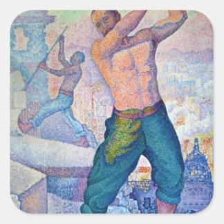 Paul Signac- The Demolisher Square Sticker