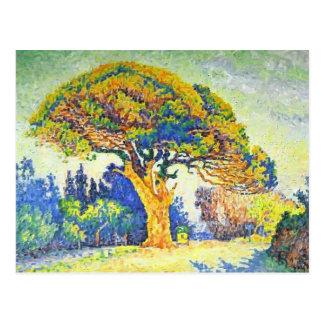 Paul Signac- The Pine Tree at St. Tropez Postcard