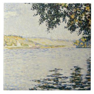 Paul Signac - View of the Seine at Herblay Ceramic Tile