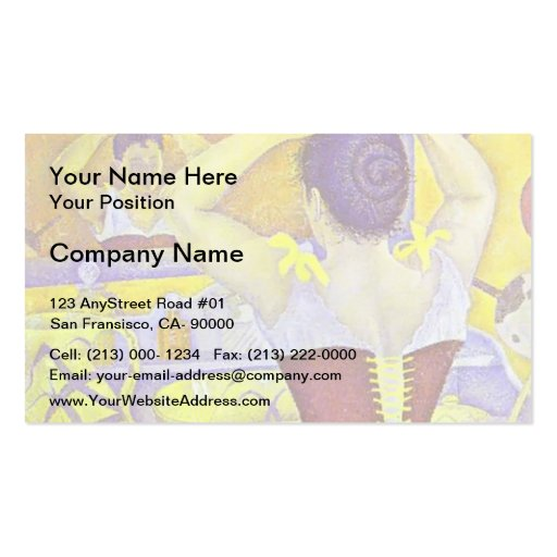 Paul Signac- Woman at her toilette wearing corset Business Card