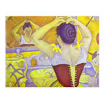 Paul Signac- Woman at her toilette wearing corset Post Cards