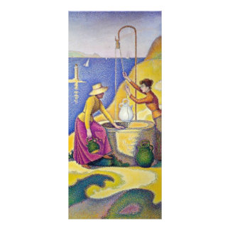 Paul Signac- Young Women of Provence at the Well Customized Rack Card
