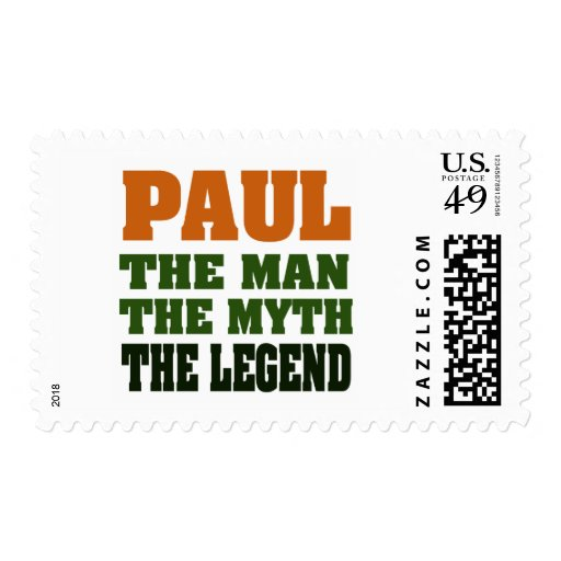 PAUL  - the Man, the Myth, the Legend Stamp