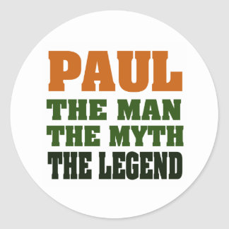 PAUL  - the Man, the Myth, the Legend Stickers