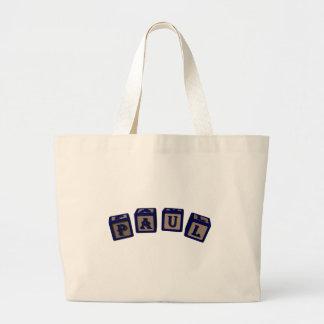 Paul Toy blocks in blue Tote Bags
