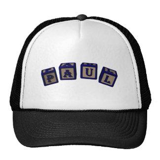 Paul Toy blocks in blue Trucker Hat