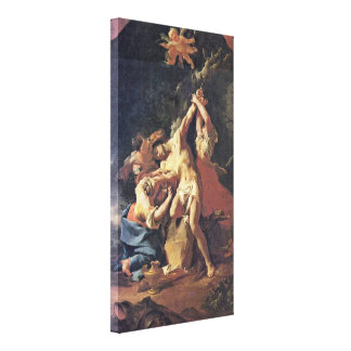 Paul Troger - St Sebastian and the women Gallery Wrapped Canvas
