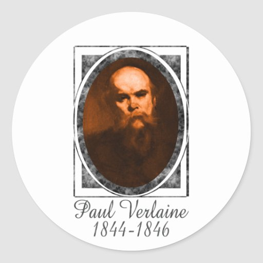 Paul Verlaine Pegatina Redonda