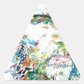 PAUL VERLAINE - watercolor portrait Triangle Sticker