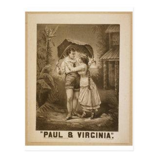 Paul & Virginia Retro Theater Postcard