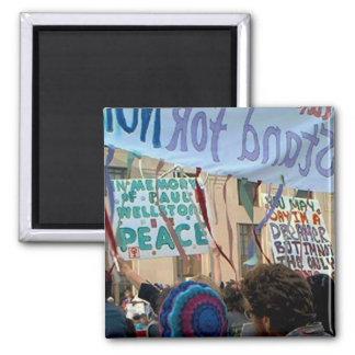 Paul Wellstone, en Mermory de, en la protesta anti Imán Cuadrado