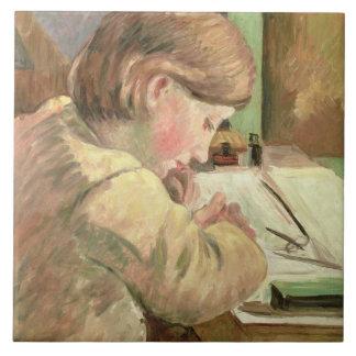 Paul Writing, c.1894 (oil on canvas) Ceramic Tile