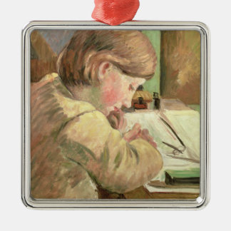 Paul Writing, c.1894 (oil on canvas) Metal Ornament