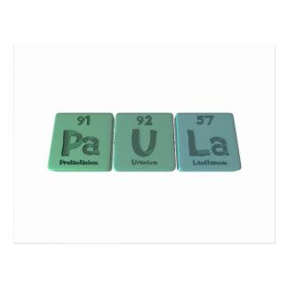 Paula as Protactinium Postcard