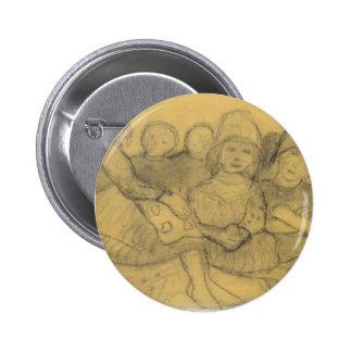 Paula Becker: Five children on the edge of meadow Pin