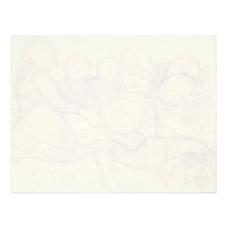 Paula Becker: Five children on the edge of meadow Letterhead Template