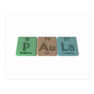 Paula como lantano del oro del fósforo postal