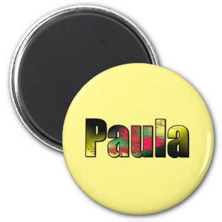 Paula 2 Inch Round Magnet