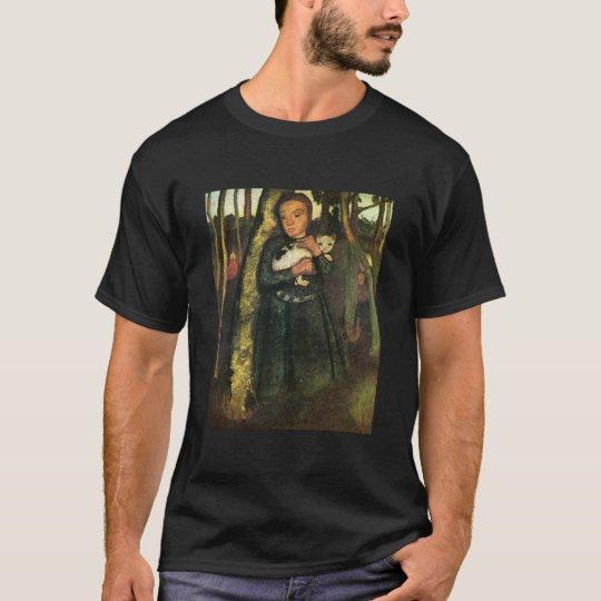 Paula Modersohn-Becker Girl & Cat Birch Trees 1904 T-Shirt
