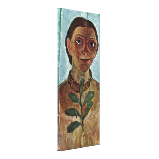 Paula Modersohn-Becker - Painter with Camellia Gallery Wrap Canvas