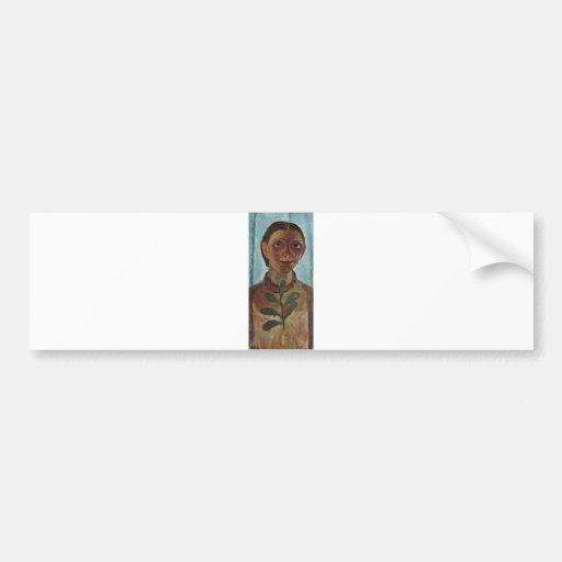 Paula Modersohn-Becker Self w/ Camelia Branch 1907 Car Bumper Sticker
