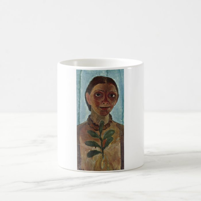 Paula Modersohn-Becker Self w/ Camelia Branch 1907 Coffee Mug