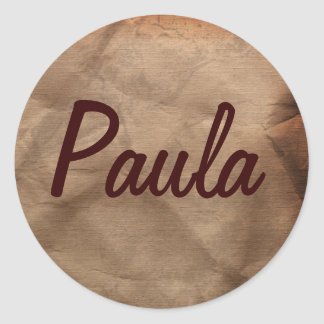 PAULA Name Stickers Collection