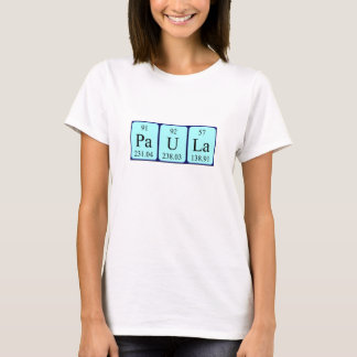 Paula periodic table name shirt
