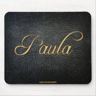 PAULA personalizó la Cuero-mirada Mousepad Alfombrilla De Ratón