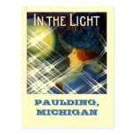 PAULDING GHOST LIGHT ~WOMAN IN THE LIGHT-POSTCARD!