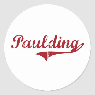 Paulding Ohio Classic Design Classic Round Sticker