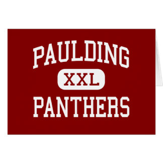 Paulding - Panthers - Middle - Paulding Ohio Greeting Card