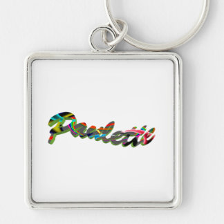 Paulette Premium Square Keychain