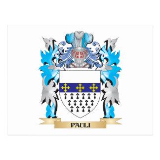 Pauli Coat of Arms - Family Crest Postcards