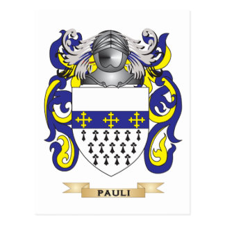 Pauli Coat of Arms (Family Crest) Post Cards