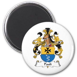 Pauli Family Crest 2 Inch Round Magnet