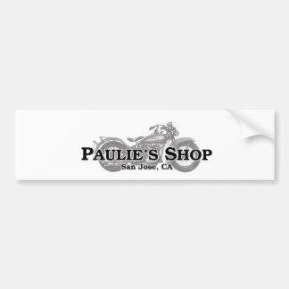 Paulie's Shop Bumper Sticker