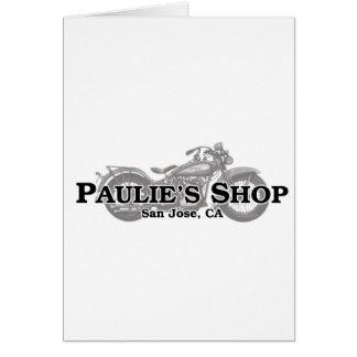 Paulie's Shop Card