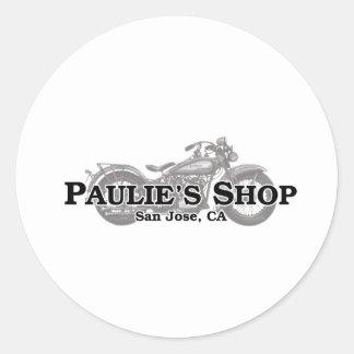 Paulie's Shop Classic Round Sticker