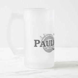 Paulie's Shop Frosted Glass Beer Mug
