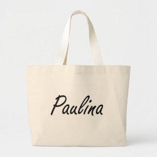 Paulina artistic Name Design Jumbo Tote Bag