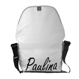 Paulina artistic Name Design Messenger Bag