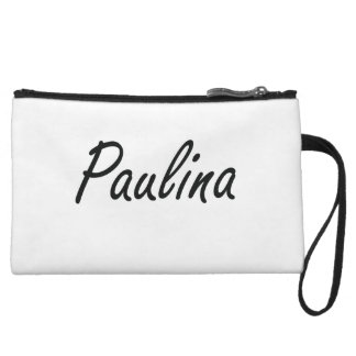 Paulina artistic Name Design Wristlet