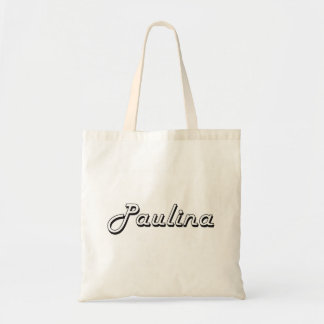 Paulina Classic Retro Name Design Budget Tote Bag
