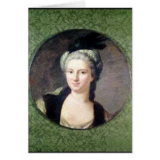 Paulina-Felicite de Nesle Countess Tarjeta