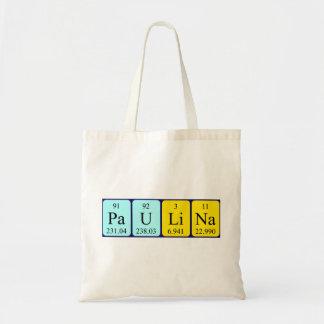 Paulina periodic table name tote bag