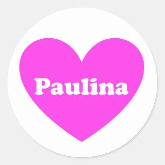 Paulina Classic Round Sticker