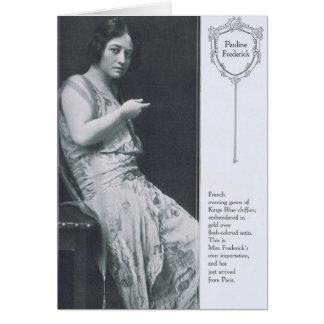 Pauline Frederick 1916 Card