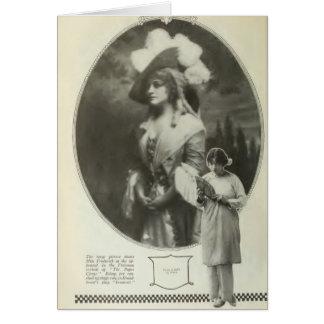 Pauline Frederick 1917 vintage portrait Card