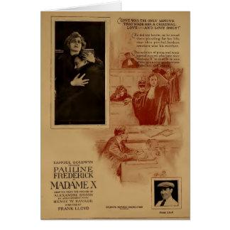 Pauline Frederick 1920 silent movie exhibitor ad Card